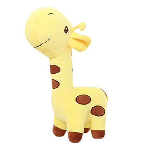 Georgie Porgy Kinder Kuschelige Giraffe Stofftier Plüschtier Soft Cute Baby Kleinkind Spielzeug (Gelbe Giraffe)