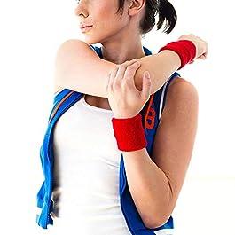 MOOKLIN 24 Pezzi Polsini di Sport Sweatband Polsino Assorbisudore Banda Protégé Wristband in Cotone Morbido per Basketball Badminton Gym Tennis Zucca (Colore Casuale)