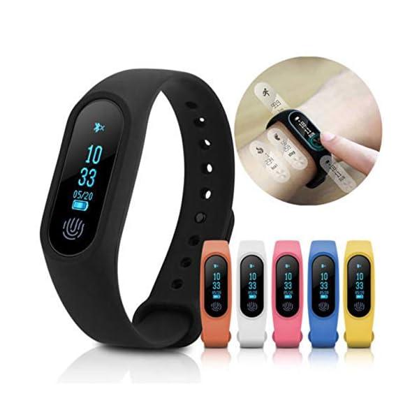 Profesional 0.42 Inch Touch Scrren Style Impermeable Fitness Activity Tracker Reloj Inteligente Pulsera (Negro… 8