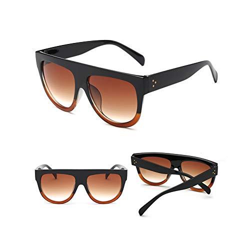 Li Kun Peng Sonnenbrille großer Rahmen runder tragbarer Leichter Sonnenschirm UV-Schutz Retro-Sonnenbrille,G
