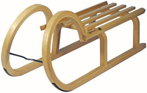 AlpenGaudi Luge traîneau à cordes en bois à lattes 85 cm