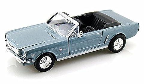 Motor Max 1964. 5 Ford Mustang Convertible, Blue - Motormax