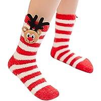 BESTOYARD Calcetines de cama niños Navidad para Hogar Vestido Regalo de Fiesta invierno para niños (Reno)