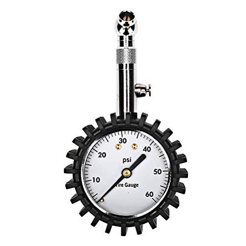 Vosarea Manomètre mécanique pour Moto, vélo et Voiture (Noir)