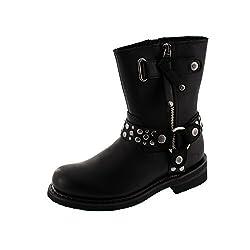 harley davidson vada black womens cowboy biker boots size uk 4 - 41W0OdibEeL - Harley Davidson Vada Black Womens Cowboy Biker Boots Size UK 4