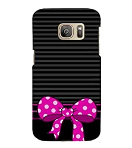HiFi Designer Phone Back Case Cover Samsung Galaxy S7 :: Samsung Galaxy S7 Duos :: Samsung Galaxy S7 G930F G930 G930Fd ( Black And Purple Colorful Pattern Design )