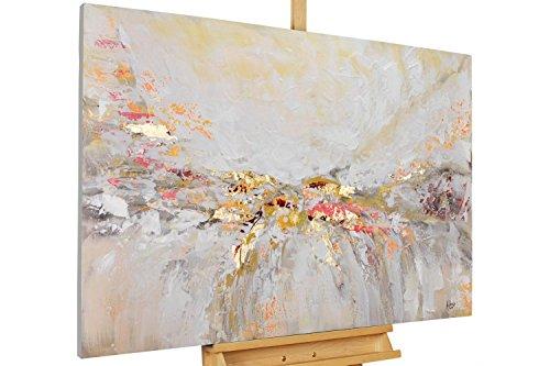 KunstLoft® Acryl Gemälde 'Ruhe vor dem Sturm' 120x80cm | original handgemalte Leinwand Bilder XXL | Abstrakt Beige Modern Sand | Wandbild Acrylbild Moderne Kunst -