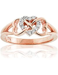 Little Treasures - 10K Rose Gold Diamond Infinity Heart Ring