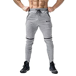 Bealeuy Herren Hose Jogginghose Jersey-Hose Trainingshose Freizeithose Fitnesshose Sporthose Sweat Pants Hosen Männer Falten Falten Overall Casual Pocket Sport Work Casual Hosen Hosen