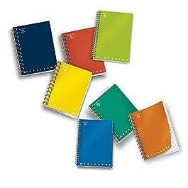 Pigna 02155584M , Conf. 5 pz. Quaderno Maxi Spiralato A4 senza Fori e Microperforazione, Rigatura 4M , Carta 80g/mq.