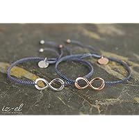 Zwei Infinity Armbänder 925 Silber und Roségold Mutter Tochter Muttertag Muttertagsgeschenk Geschenknachricht Geschenkverpackung Schmuckbox 925