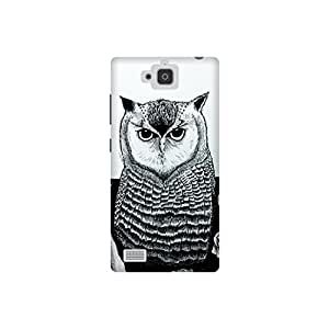 The Racoon Grip The Owl hard plastic printed back case / cover for Huawei Honor 3C
