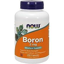 Now Foods - Boron - 3 mg 250 capsules