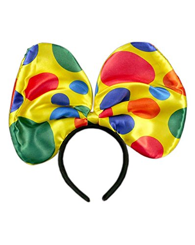 GIRM® - 7873 - Frontino fiocco da Clown per costume