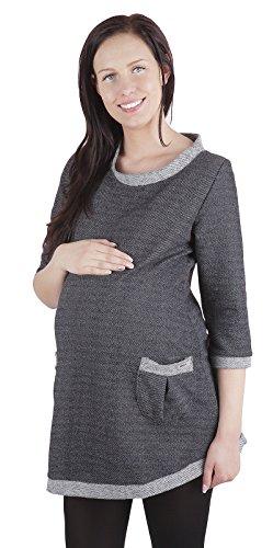 Pull de grossesse Street Fashion 3039 - vêtement chaud Gris