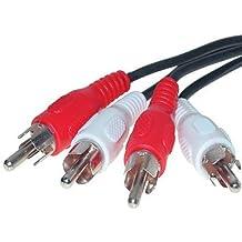 Cinch Audio Stereo Anschlusskabel 2x Stecker auf 2x Stecker 5m