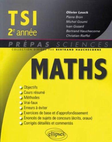 Mathématiques TSI 2e année