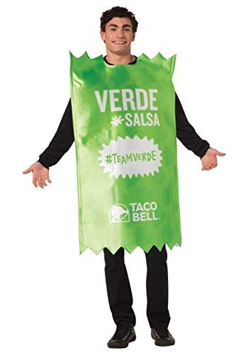 Morris Costumes Taco Bell Adult Verde Taco Bell Sauce Packet Costu - Taco Sauce Kostüm
