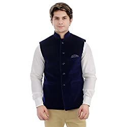 BERRY Collection Trendy Timeless And Versatile Velvet Nehru Jacket