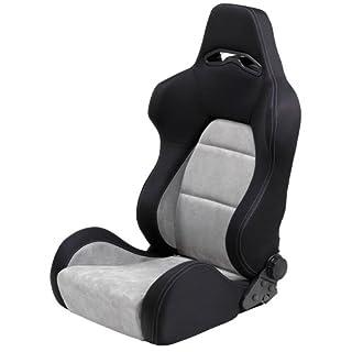 Autostyle Sport Seat Eco Soft Black/Grey Chamois (dual)