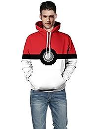 Honghu Casual Impresión Crew Neck Sweatshirts Manga Larga Camisetas Largo Sudadera con Capucha Sudadera para Hombre