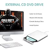 External CD DVD Drive【Fast Transfer & Low-noise】OMorc Portable USB CD DVD Burner Writer Optical DVD-RW CD-RW Player Compatible for Windows 7/8/10/XP/Mac OS System and Laptop, Notebook, Desktop