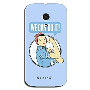 Mozine We Can Do It printed mobile back cover for Moto Moto G 2nd gen