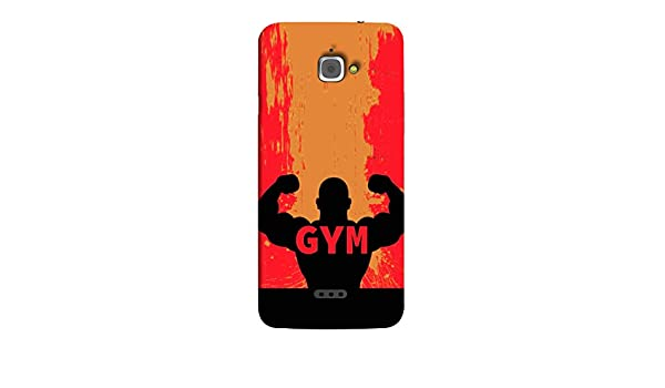 Infocus M350 Back Cover Silhouette Of Bodybuilder Amazonin