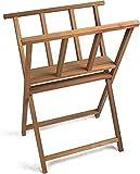 Robuster Druck Kunstwerk Lagerregal Ausstellung Browser Ständer aus Buchenholz BH-2