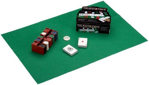 Trend Import Pokerzubehör 101464 Poker Texas Hold'em Poker Set 200 Chips, Small and Big Blind Dealer Button und Karten