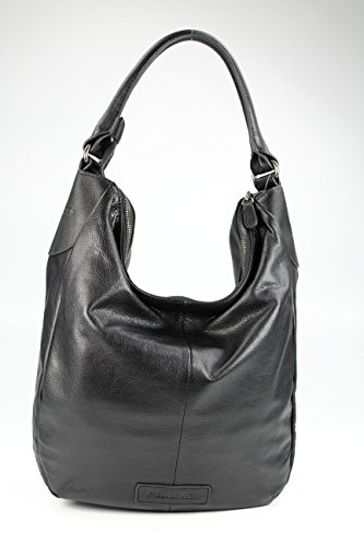 Borsa In Pelle Da Donna Frasbruder Hobo Cruscotto Nero