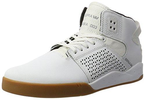 Supra Herren Skytop Iii High-Top Sneaker, Weiß (White-Gum), 41 EU (Skytop Supra Sneakers)