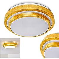 Auffällige goldene LED Deckenlampe 40cm Wohnzimmerleuchte Flurlampe Design rund