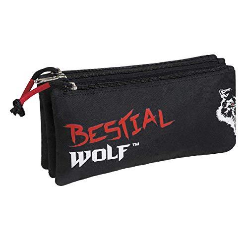 Busquets Estuche Escolar Triple Bestial Wolf by DIS2