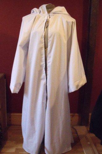 165.10 cm Länge weiß Baumwolle Jedi Bademantel für Erwachsene, Pagan/Jedi/Assistent/LARP