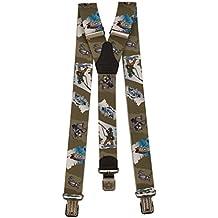 Ranger Hosenträger für Herren Y-förmige 4cm breit verstellbar und elastisch mit einem sehr starken Clips
