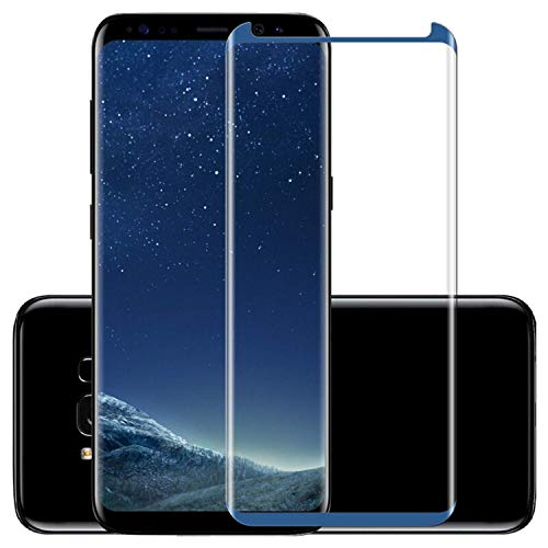 Vikimen Ausgeglichenes Glas-Film, Schirm-Schutz, 3D Curved Full Cover Screen Protector for Galaxy S8 9 Plus Note8 Tempered Glass Protective Film Fit for Phone Shell/Case for S9 Black