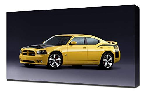 Lilarama 2007-Dodge-Charger-SRT8-Super-Bee-V1-1080 - Art Leinwandbild - Kunstdrucke - Gemälde Wandbilder (Charger Dodge Srt8 2007)
