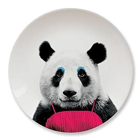 MUSTARD Grande Assiette Plate en ceramique pour utilisation quotidienne I 22,9 x 22,9 x 2,3 cm - Wild Dining