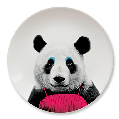 Mustard Keramik Teller - Wild Dining Panda