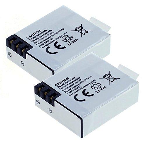 2x subtel Qualitäts Akku für Apeman A60, A66, A70 1080p HD, A77 4K UHD, A80 4K UHD Sports Action Camera | ThiEye i60e | Midland H3 H5 | Vemont 1080p 12MP Action Camera | Tonbux 4K Sport Action Camera | HawkEye Firefly 7S 4K | DBPower N5 (900mAh) 1ICP10/28/31,FA1050 Ersatzakku Batterie