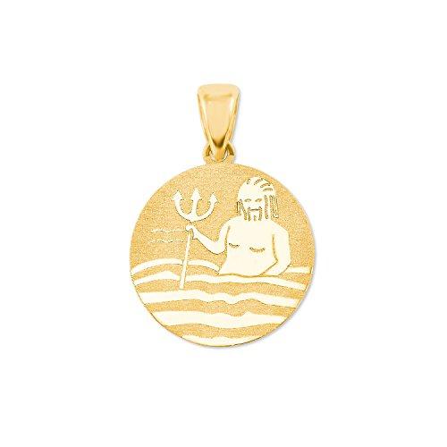 amor Sternzeichen Wassermann Münzen-Anhänger Gold 375