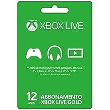 ABBONAMENTO XBOX Live Gold 12 MESI per XBOX ONE & 360 ITA