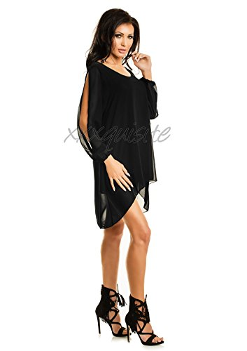 xxxquisite -  Vestito  - cut out - Maniche lunghe  - Donna Nero