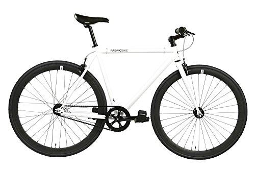 FabricBike - Original Collection, Hi-Ten Stahl, Fahrrad Fixed Gear, Single Speed, Urban Commuter, 8 Farben und 3 Größen, 10 Kg (Space White & Black, S-49cm)