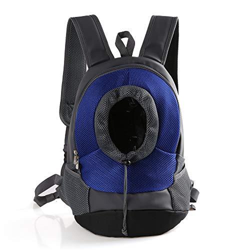 XBECO Dog Rucksack Large Fabric Cat Carrier Dog Carrier Carry Bag für Pet Travel Soft Puppy Carrier atmungsaktive mesh/hohe Qualität Leder/Leinwand,Blue,S