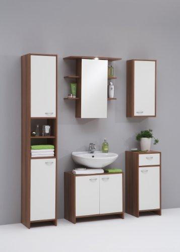 FMD – Waschbeckenunterschrank Madrid 64 x 56,5 x 33 cm zwetschge/weiß - 3