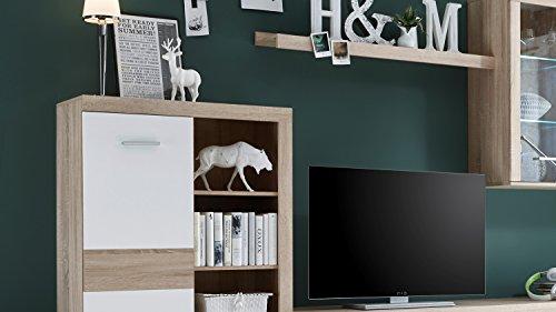 Wohnwand – Moderne Anbauwand in weiß Bild 3*