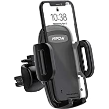 Mpow Car Phone Holder, Air Vent Phone Mount with 3-Level Adjustable Clamp 360° Rotation In Car Mount for iPhone11Pro/11/XS Max/XS/Xr/x/8S/8/7/6 Plus, Galaxy S20/S10/S9/S8, P20, LG, HTC & Smartphones