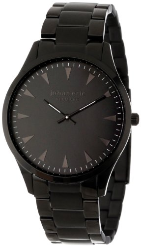 Johan Eric JE9000–13–007B de hombres reloj de pulsera de acero inoxidable bañada en Helsingor negro